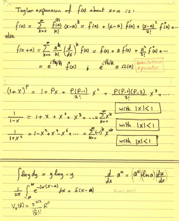 مختصرات مفيدة.. في الفيزياء الرياضية